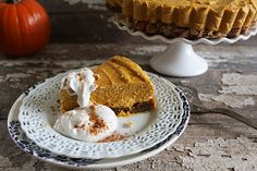 Raw Pumpkin Pie Cheesecake
