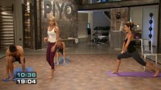Yoga Fitness Plan - PiYO Disc 1 - Align the Fundamentals - Get Your Sexiest. Body Ever!…Without crunches, cardio, or ever setting foot in a gym! Fitness Del Yoga, Fitness Tips, Fitness Plan, Pilates Videos, Workout Videos, Fit Board Workouts, Fun Workouts, Pilates Workout, Cardio