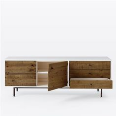 Reclaimed Wood + Lacquer Media Console - Long | west elm