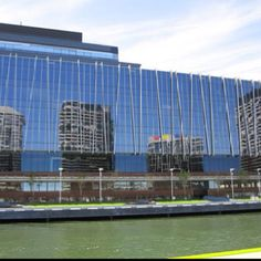 Reflections on ANZ facade at Victoria Harbour, Docklands - Melbourne VIC Australia