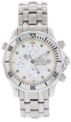 Omega Seamaster 1780504 Stainless Steel White Dial Automatic 42mm Mens Watch