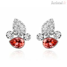 Earrings Heart aflame with SWAROVSKI ELEMENTS