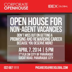 Ibex global recruitment urgently needs interns for our pasig and well be having an open house for corporate vacancies on april 7 2014 at our bf paraaque career center interested applicants may send their resumes and stopboris Gallery