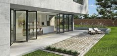 NanaWall® SL82 -- Continuous Glass Aesthetic with the Performance of a Framed System