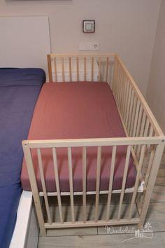 Ikea Baby Room, Twin Baby Rooms, Baby Bedroom, Baby Cribs, Wooden Baby Crib, Baby Co Sleeper, Bedside Crib, Ikea Kura Bed, Baby Hacks