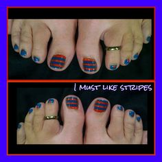 Orange and Blue stripes