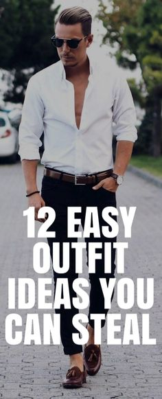 12 Easy Outfit Ideas For Men #mensfashion #fashion #style
