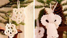 Snefnug og engle hører julen til og de fine hvide af slagsen, kan du hænge på juletræet jul efter jul