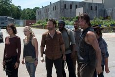 """Too Far Gone Maggie Greene (Lauren Cohan), Beth Greene (Emily Kinney), Rick Grimes (Andrew Lincoln), Tyreese (Chad Coleman), Daryl Dixon (Norman Reedus), and Carl Grimes (Chandler Riggs) in """"The Walking Dead"""" Season 4 episode, """"Too Far Gone."""""""