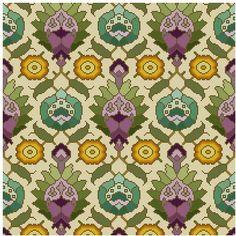 Antique Wallpaper adaptation Persian motifs Cross stitch pattern PDF by Whoopicat Card Patterns, Fabric Patterns, Textures Patterns, Cross Stitching, Cross Stitch Embroidery, Cross Stitch Patterns, Art Deco, Art Nouveau, Antique Wallpaper
