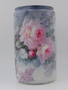 Limoges Antique France Hand Painted Porcelain Vase ~Gorgeous~Roses~