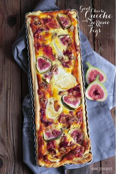 Quiche Ziegenkäse con Serrano y Feigen - Flammkuchen/Tarts/Quiche - Pastel de Tortilla Quiches, Goat Cheese Quiche, Beef Recipes, Cooking Recipes, Shrimp Recipes, Snacks Für Party, Quiche Recipes, Pizza Recipes, Food Inspiration