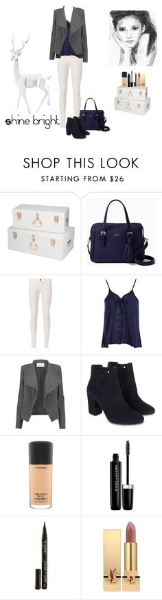 """""""Shine bright"""" by maria-herreross ❤ liked on Polyvore featuring Kate Spade, J Brand, Sans Souci, Amanda Wakeley, Monsoon, MAC Cosmetics, Marc Jacobs, Smith & Cult and Yves Saint Laurent"""