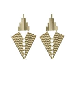Golden Symmetry Earrings