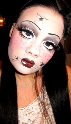 Broken Doll Halloween Makeup Ideas