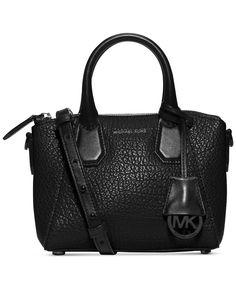 MICHAEL Michael Kors Campbell Mini Satchel - Black Handbag Shoulder Strap