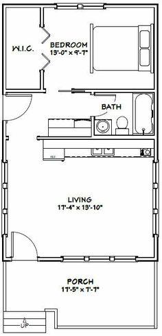 Casa de campo pequena com 1 quarto