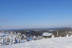 Näkymä Rukan Saaruan rinteiltä maaliskuun aurinkoisena päivänä. Ruka, Kuusamo. Outdoor, Outdoors, Outdoor Games, The Great Outdoors