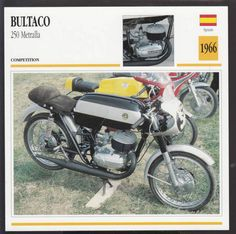 bultaco cc metralla cc spain enduro bike motorcycle photo spec card