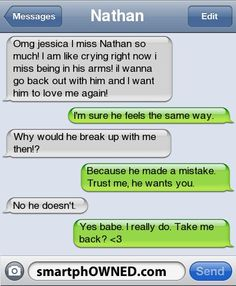 i want you back text messages