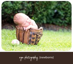 baseball newborn - Newborn Photography - baseball baby
