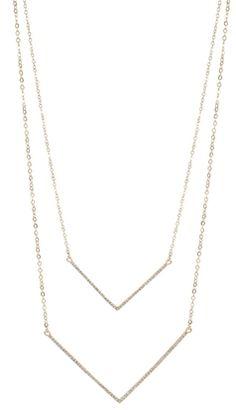 Sprinkled Doublebar Necklace