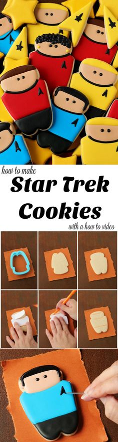 How to Make Star Trek Cookies with a How to Video Tutorial | The Bearfoot Baker