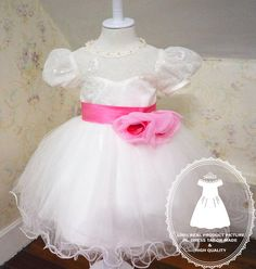 Flower Girl Dress Special Double Flower Bow Baby TuTu by PLdress