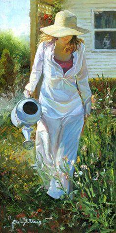 Watering the flowers....A simple pleasure.