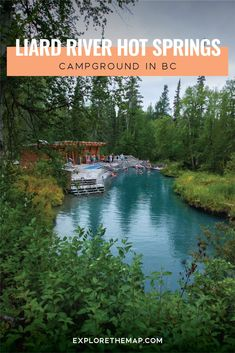 The Liard River Hot Springs campground is a wonderful place to stay overnight as you soak in Canada's largest natural hot springs in northern British Columbia. The campground is open year-round and is very beautiful. Hot Springs Arkansas, British Columbia, Columbia Outdoor, Canada Destinations, Stay Overnight, Camping Places, Canada Travel, Canada Trip, Going On Holiday