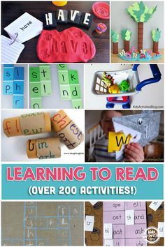 200+ Learning To Read Activities and Crafts for Kids. Make learning and reading fun for little ones with interactive games, activities, and crafts.