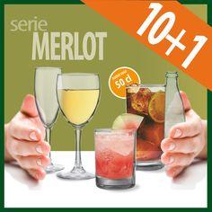 Con motivo de la nueva incorporación del vaso Merlot de 50 cl, ideal para combinados,  ofrecemos un 10% de descuento en toda la serie Merlot.