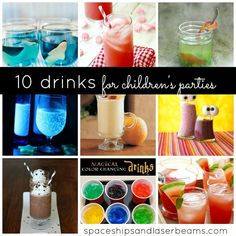 10 Fun Drinks to Serve at Children's Parties {Non-alcohol Drink Ideas} - Spaceships and Laser Beams