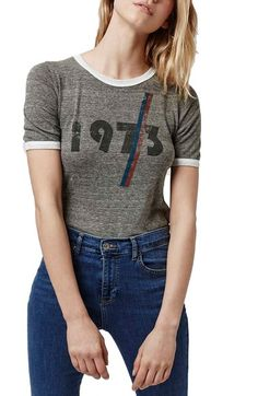Topshop '1973' Ringer Tee available at #Nordstrom