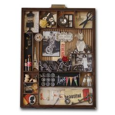 What a cute shadowbox. I would love to make these. I collect so many small useless items, it would be perfect for me.