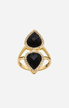 FOR THE ACCESSORIES || Melanie Auld double tear ring in black onyx || NOVELA...where the modern romantics play and plan the most stylish weddings...Instagram: @novelabride