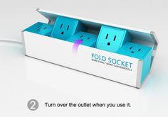 [특이한멀티탭]펼쳐 쓰는 멀티탭 'Fold socket'