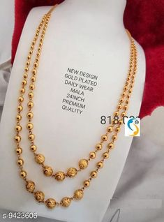 Necklaces & Chains WOMEN 'S MICRO GOLD PLATED 2 LAYERD CHAIN Base Metal: Brass Plating: Gold Plated Stone Type: Agate Sizing: Long Type: Layered Multipack: 1 Sizes: Country of Origin: India Sizes Available: Free Size   Catalog Rating: ★4.1 (5848)  Catalog Name: Sizzling Graceful Women Necklaces & Chains CatalogID_1654742 C77-SC1092 Code: 971-9423606-843