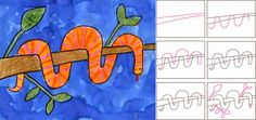 Draw a Wrap Snake - ART PROJECTS FOR KIDS