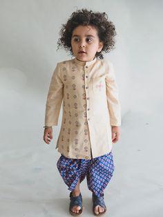 2d226987a Buy Beige Buta Ajrakh Dhoti Kurta Set Cute Baby Dresses, Baby Boy Dress,  Girls