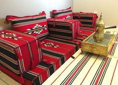 جلسة عربيه من قماش السدو ... Arabic floor seating