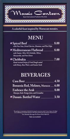 Food Booth Menu Boards And Prices For 2019 Epcot Festival Of The Arts