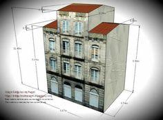 Villanueva Building Paper Model - Ourense Series - by Edifícios De Papel