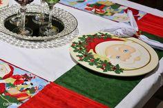 Receitas Círculo - Toalha Quadrada Noel