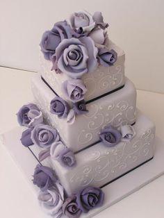 Victorian Lilac Wedding Cake / Cakesalouisa