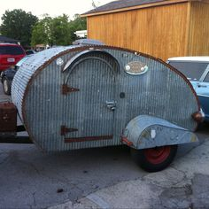 Homemade trailer-note washtub fenders!