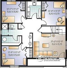 Sous-sol Plain-pied économique de 5 chambres, 2 salons, chambre froide, coin…