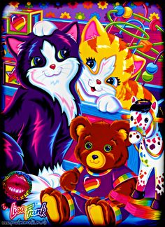 lisa frank | Lisa-Frank-Cats-Bear