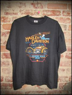 4e85cc346020b1 Vintage 80 s Harley Davidson Legend Factory Shirt - Size Large