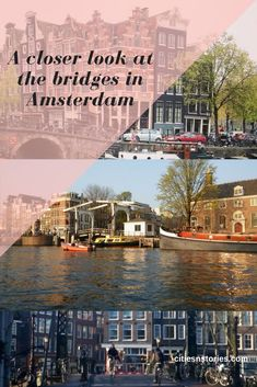 Take a closer look at a couple of the most beautiful bridges of Amsterdam. Cities In Europe, Travel Europe, Interesting Information, City Life, Bridges, Belgium, Closer, Traveling By Yourself, Amsterdam